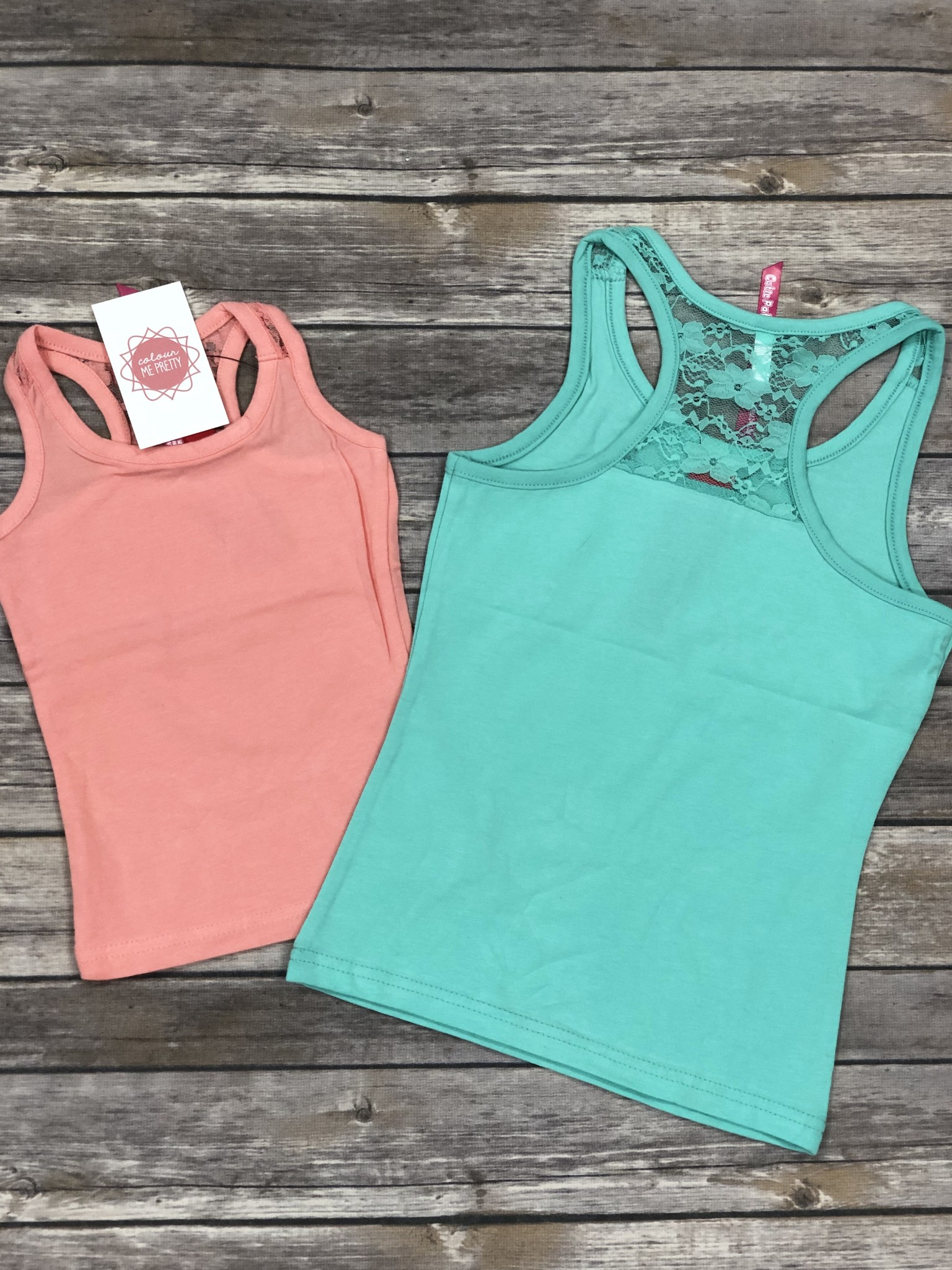 Laced Floral Tank Mint