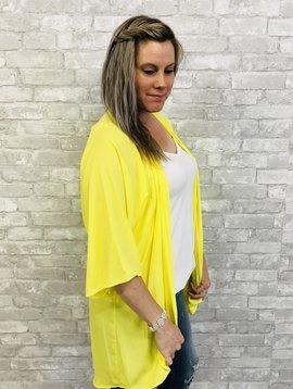 Yellow Kimono Cardi