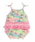 Let's Flamingle Bubble Romper