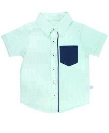 Mint Seersucker Shirt