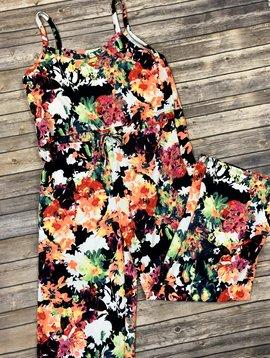 Neon Floral Jumpsuit