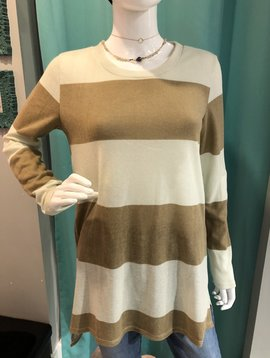 Boldly Striped Mustard Tunic