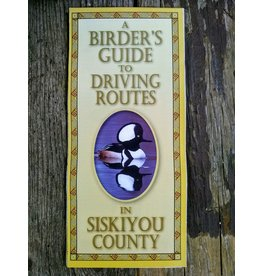 Map, A Birder's Guide to Driving Routes in Siskiyou County