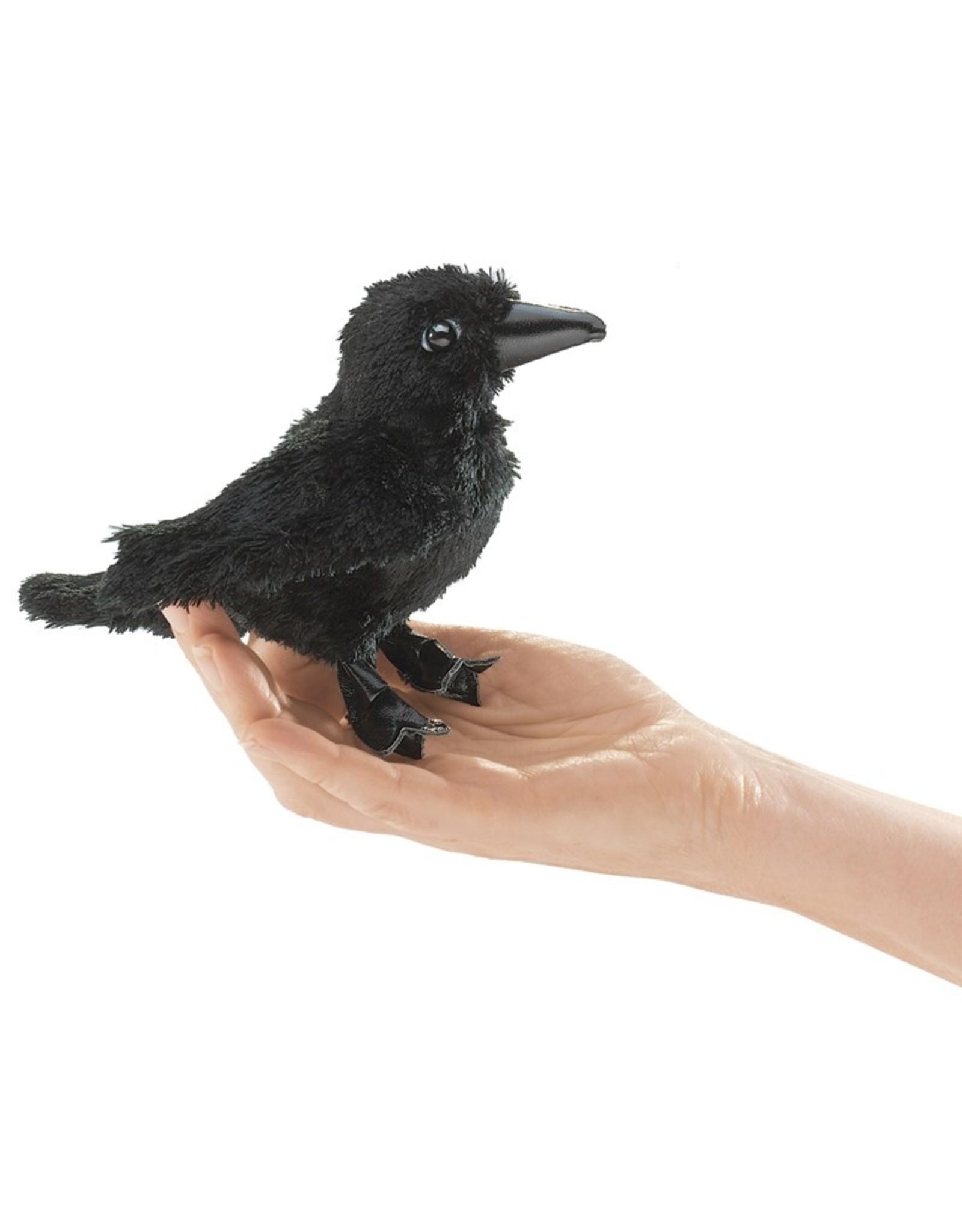 Folkmanis Puppet, Finger, Mini Raven, 2698