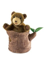 Folkmanis Puppet, Bear in Tree Stump, 2904