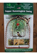 Hummingbird Swing, Copper with Red Bead, SEHHHUMS