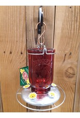 Hummingbird Feeder, Red Mason Jar, PP786