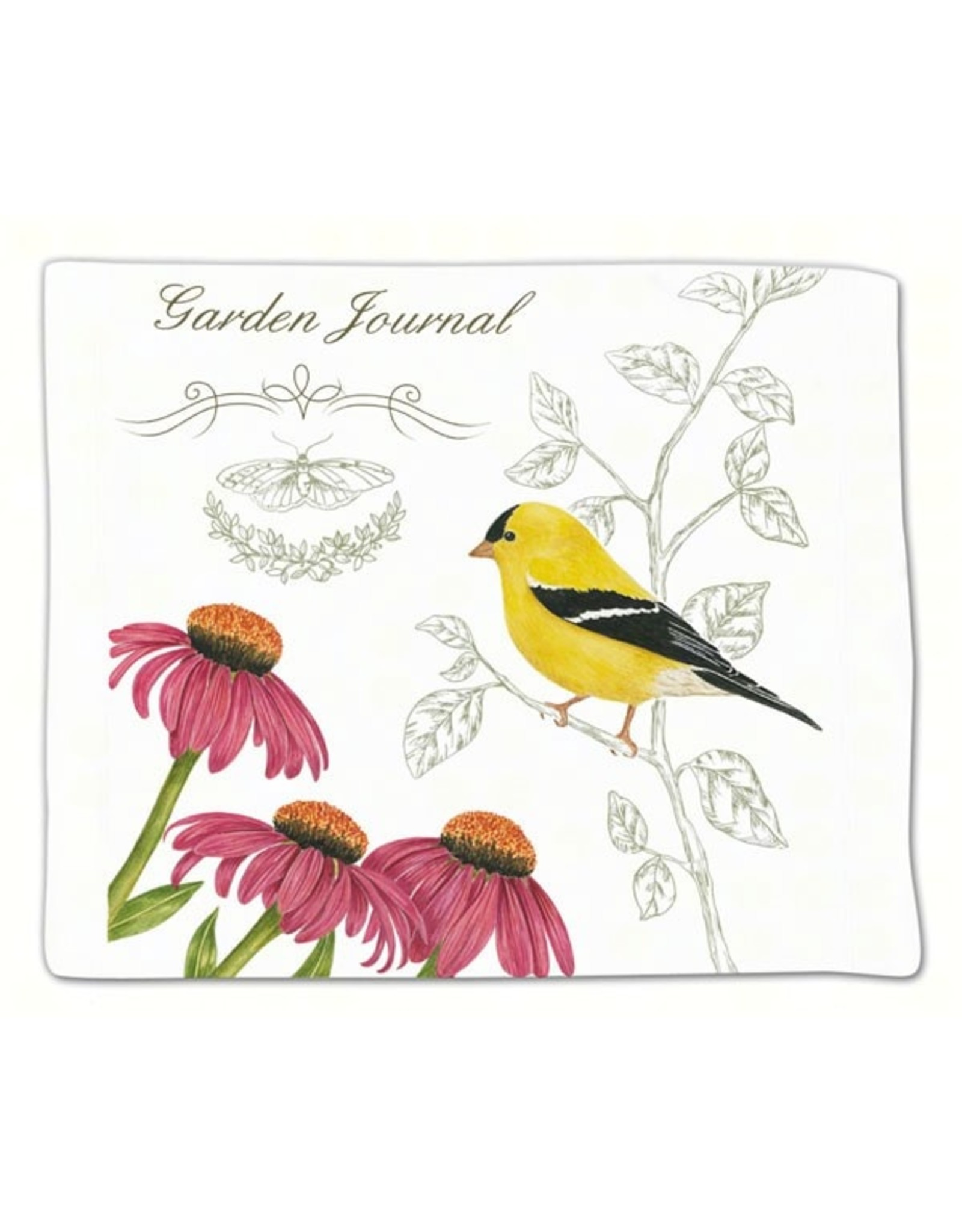 Alice's Cottage Flour Sack Towel, Single, Goldfinch, Made in USA, ACU34449