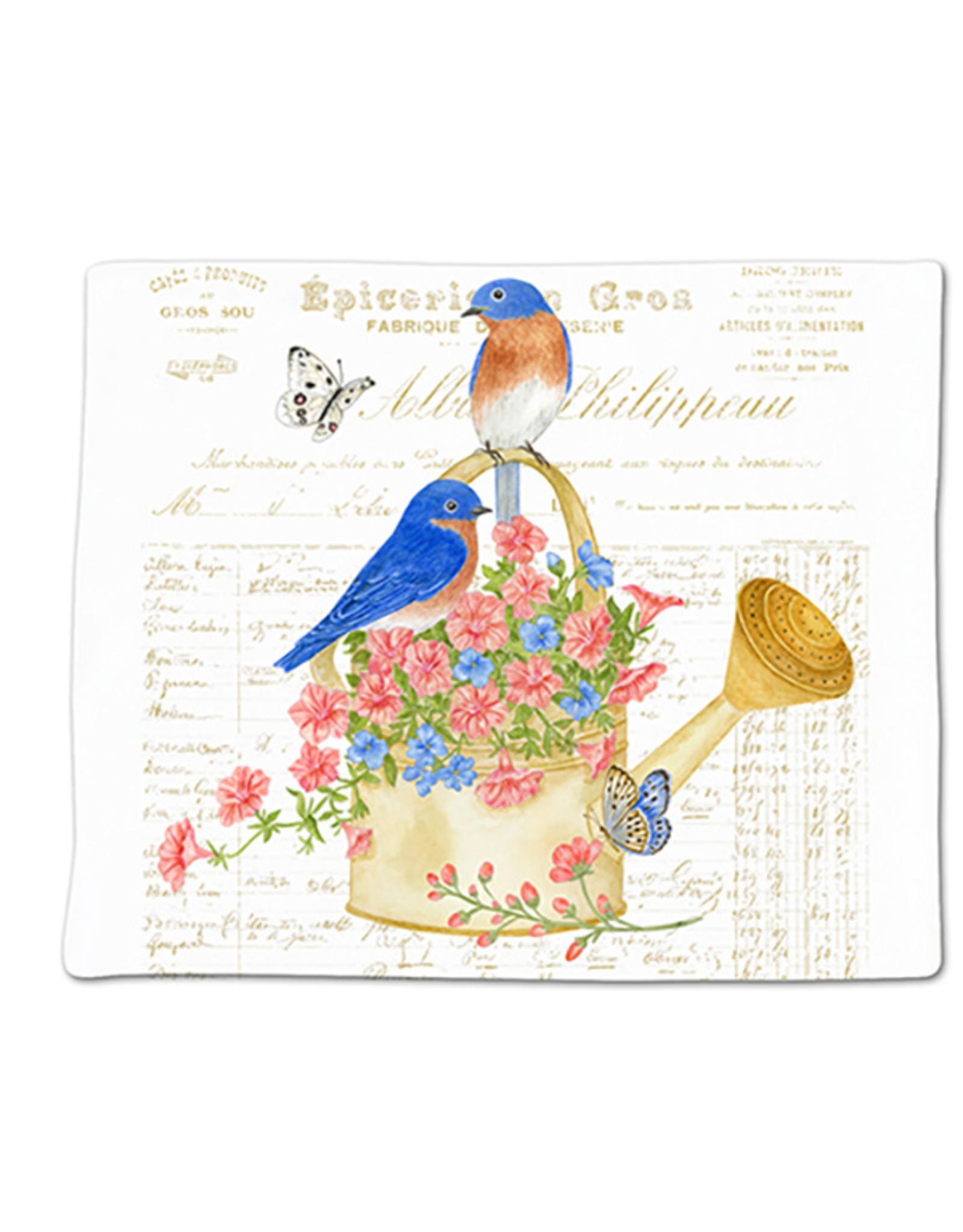 Alice's Cottage Flour Sack Towel, Single, Bluebirds, Made in USA, ACU34497