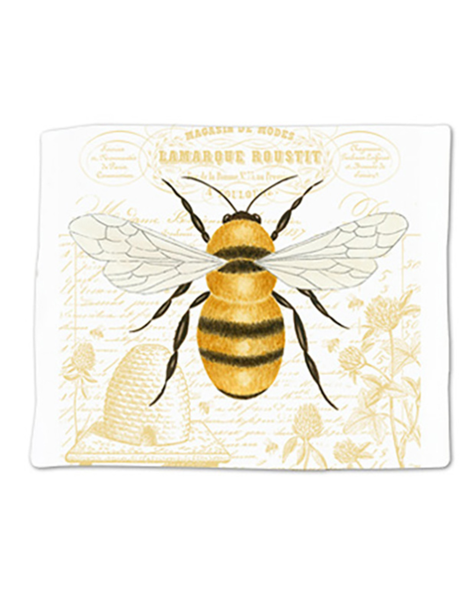 Alice's Cottage Flour Sack Towel, Single, Honey Bee, Made in USA, ACU34492
