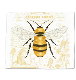 Alice's Cottage Flour Sack Towel, Single, Honey Bee, Made in USA, ACU34492