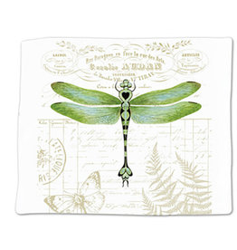 Alice's Cottage Flour Sack Towel, Single, Dragonfly, Made in USA, ACU34475