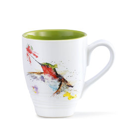 Mug, Dean Crouser Art, Hummer and Flower, Ceramic