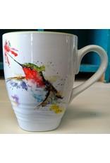 Mug, Dean Crouser Art, Hummer and Flower, Ceramic
