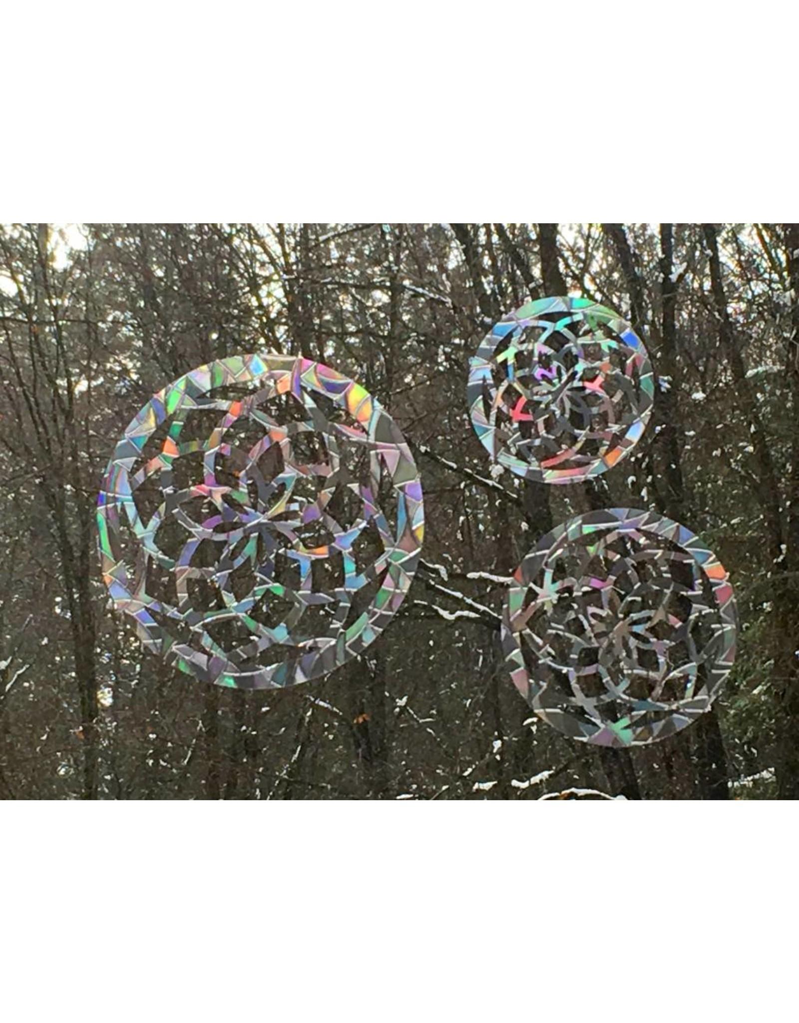 Baby Cricket Window Gems, Sacred Geometry Mandala, Pack of 3, Made in Mt Shasta!