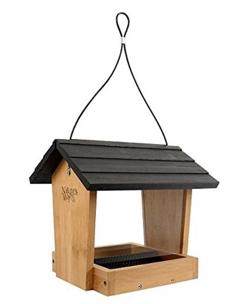Bird Feeder, Bamboo, Hopper 4 qt., NWBWF16