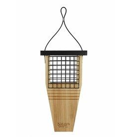 Suet Feeder, Tail Prop for Woodpecker, Cedar, NWCWF1