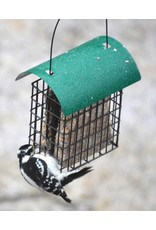 Suet Feeder, Deluxe Double Cage with green roof, SE106