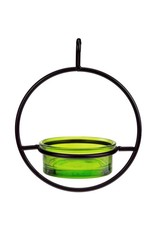 Bird Feeder, Sphere, Hanging, Lime Glass, COURM04520001
