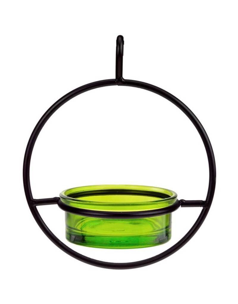Bird Feeder, Sphere, Hanging, Lime Glass, COURM045200001