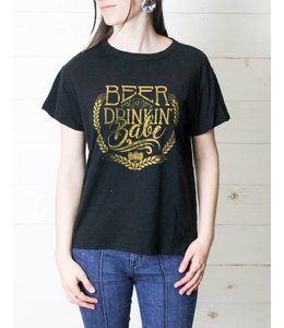 White Crow The Beer Drinkin Babe Tee