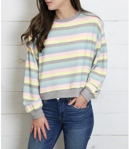 Z Supply The Rainbow Striped Pullover