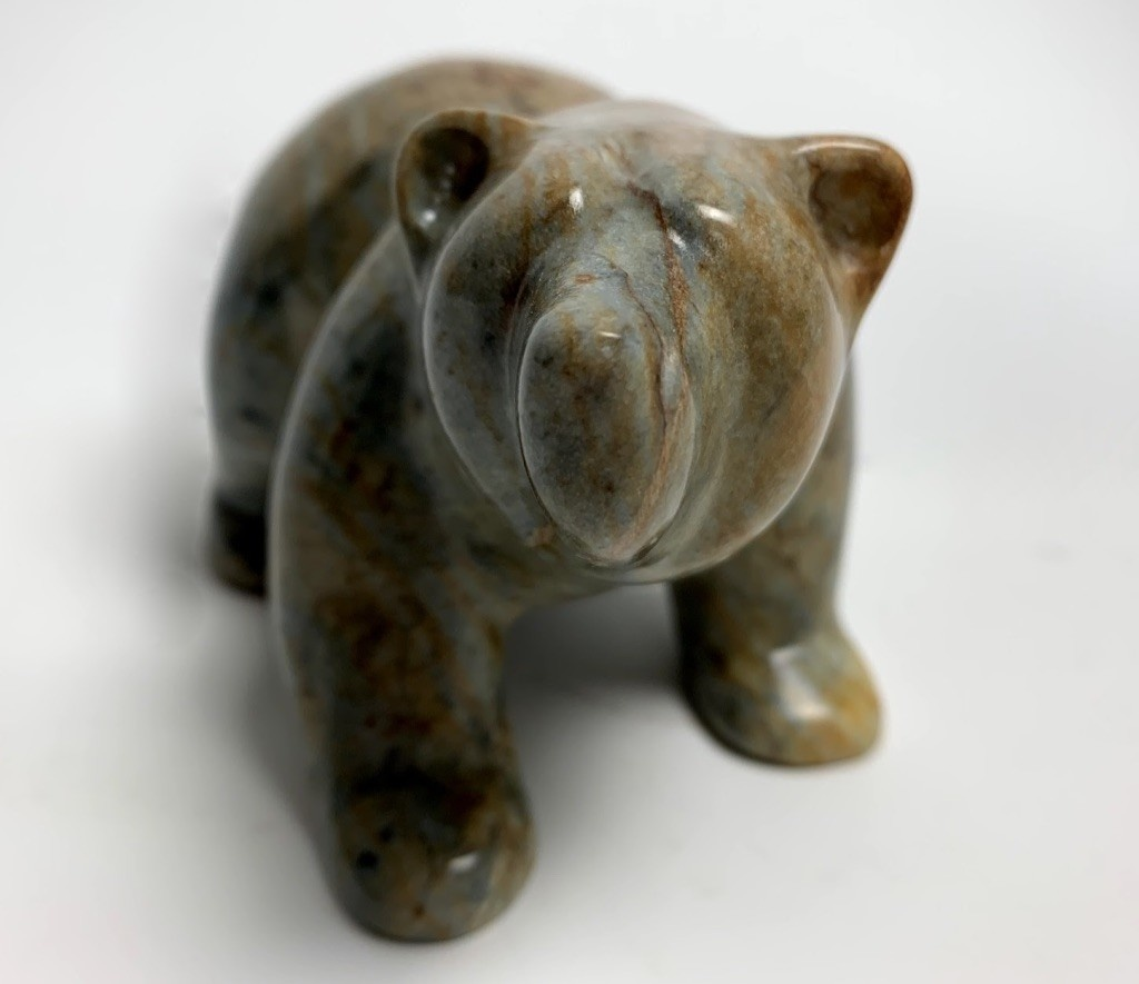 - Eli The Soapstone Walking Bear #103