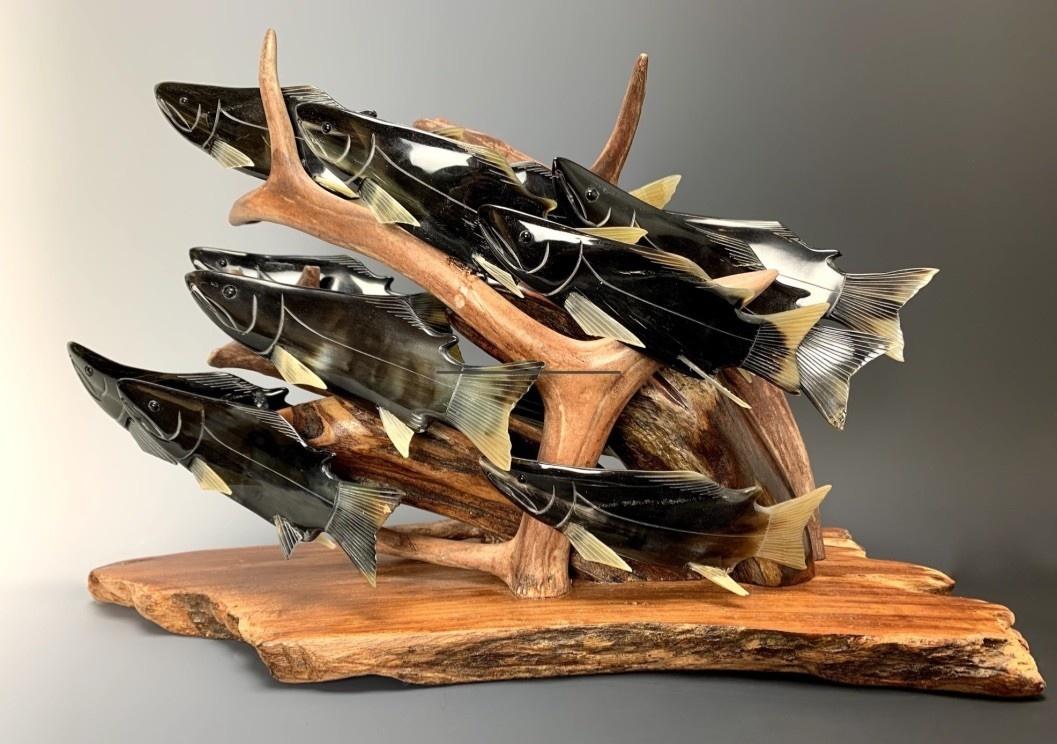 "- ""Spawning Salmon"" -  (item#106)"