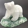 -Nanci The Selenite Bear on Fluorite #105 - SOLD