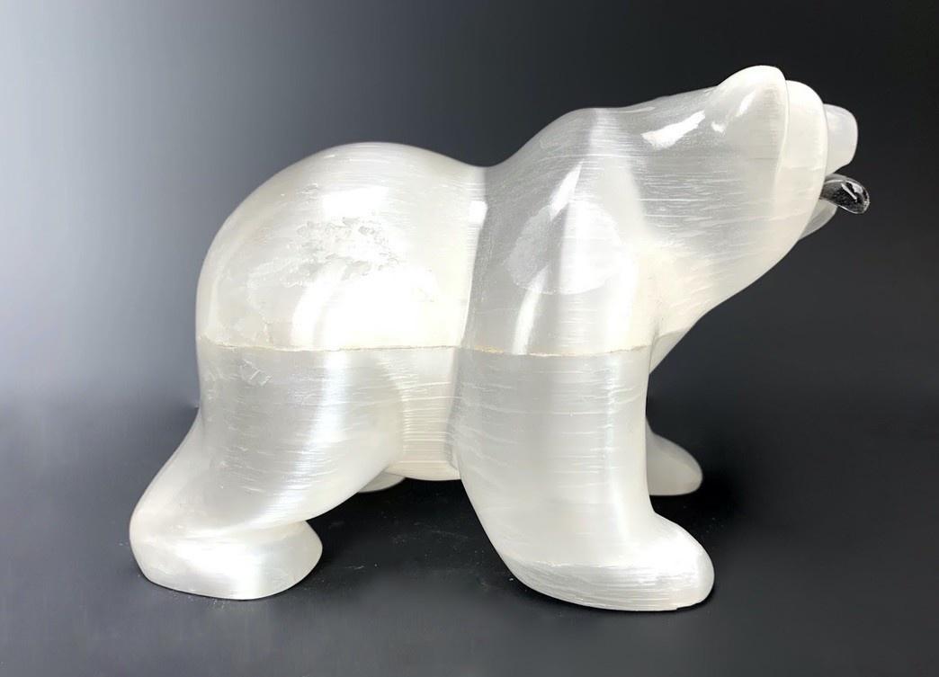 - Mari The Selenite Hungry Bear #108 SOLD