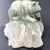 Emma Soapstone Hungry on Selenite #110 - SOLD