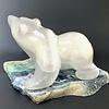 """- """"Lilly"""" -  Selenite on Fluorite Walking Bear (#114)"""