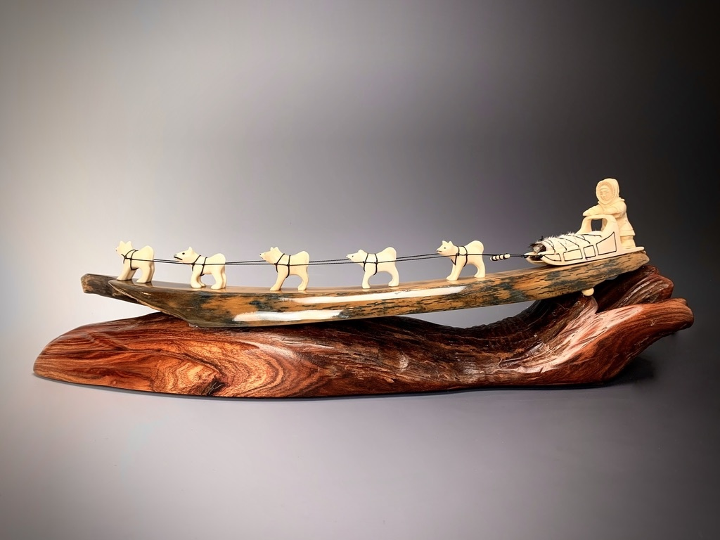 Dog Sled - Fossil Mammoth Ivory #125