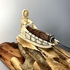 """""""Dog Sled"""" Fossilized Mammoth Ivory Sculpture (#130)"""