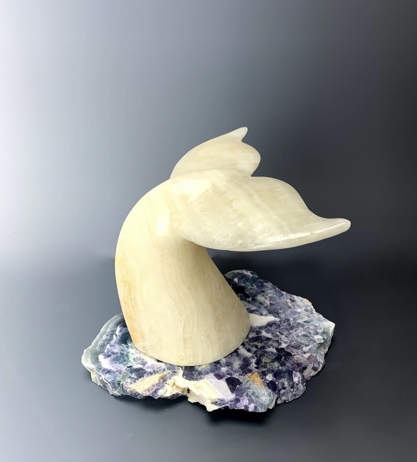 """""""Whale tail"""" Marble Sculpture - (#139)"""