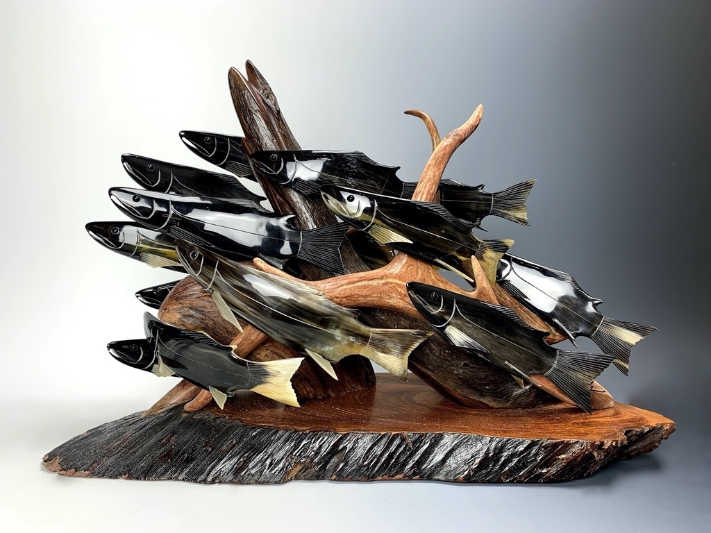 "- ""Spawning Salmon"" - (item#140)"