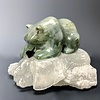 """Abbey"" Soapstone Bear Sculpture (#142)"