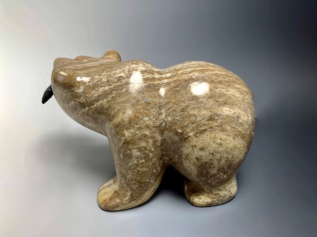 """Bernard"" Soapstone Bear Sculpture (#144)"