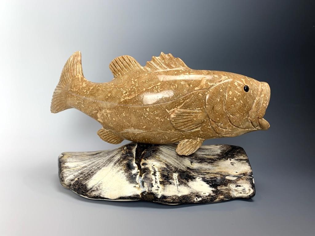 """Larry"" Stalagmite Marble Largemouth Bass (#153)"