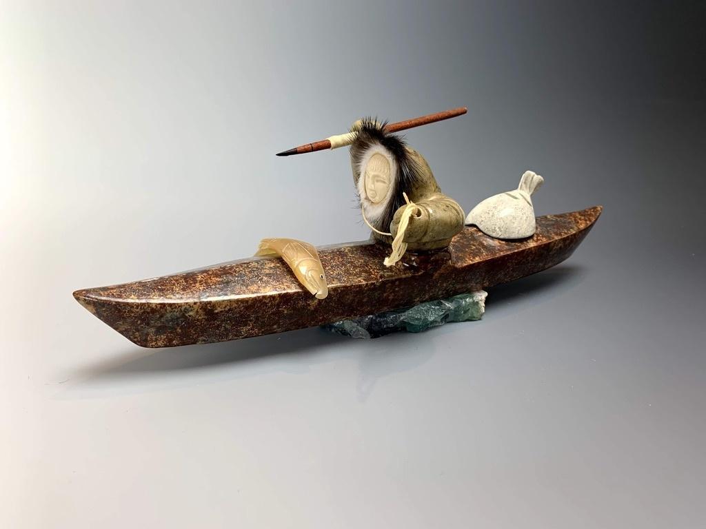 """Kayaker"" Soapstone (#160)"