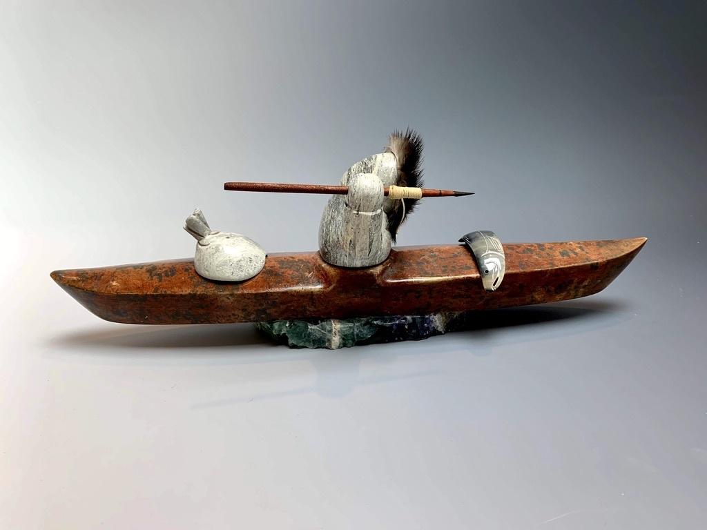 Kayaker - Soapstone #161
