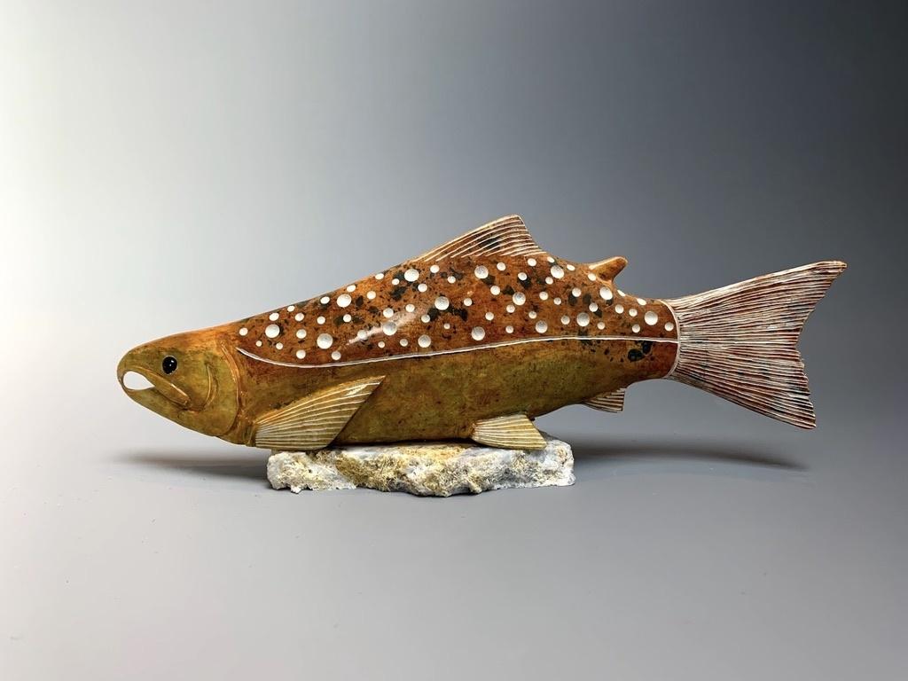 """- """"Salmon"""" - Soapstone #174"""