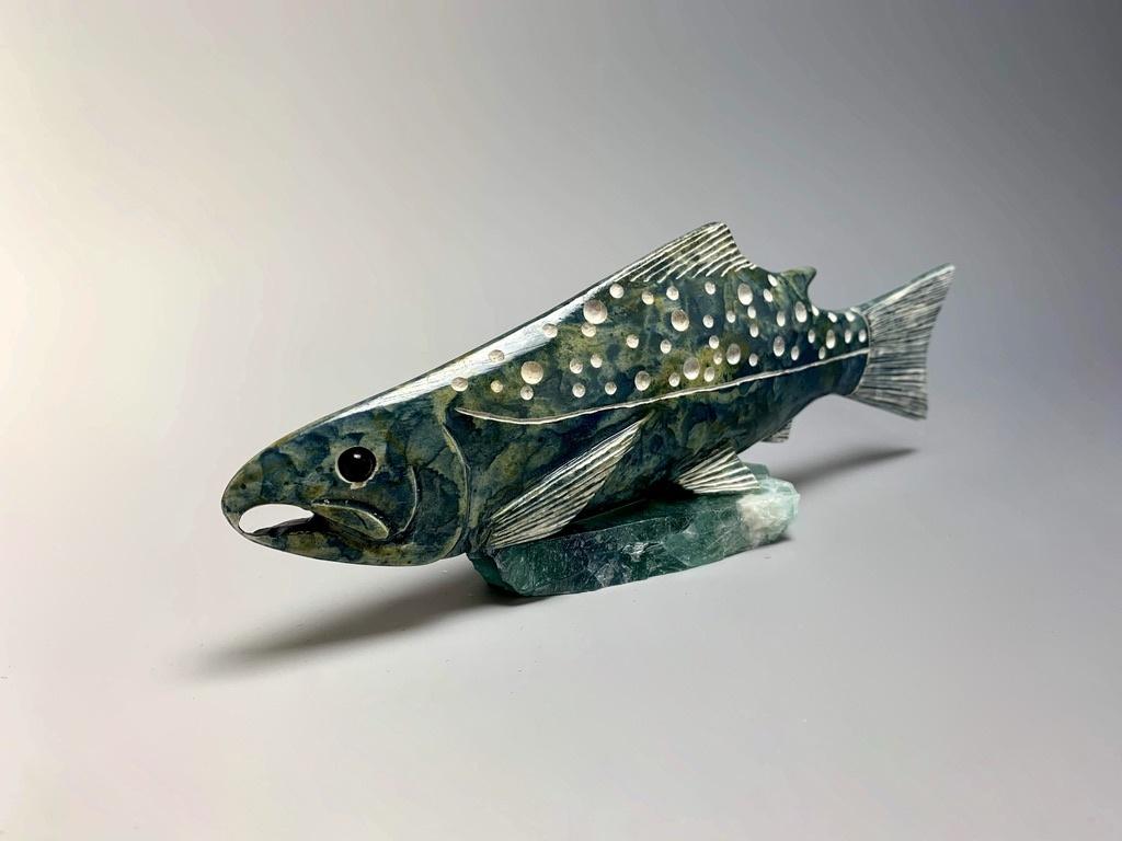 """- """"Salmon"""" - Soapstone #177"""