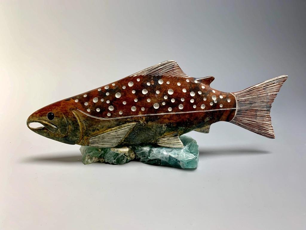 """- """"Salmon"""" - Soapstone #178"""