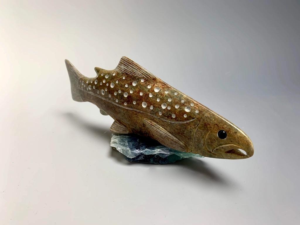 """- """"Salmon"""" - Soapstone #179"""