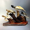"""""""Turtle Family"""" - Buffalo Horn and Rose wood (#181)"""