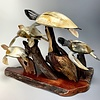 Turtle Family - Buffalo Horn and Rose wood #181