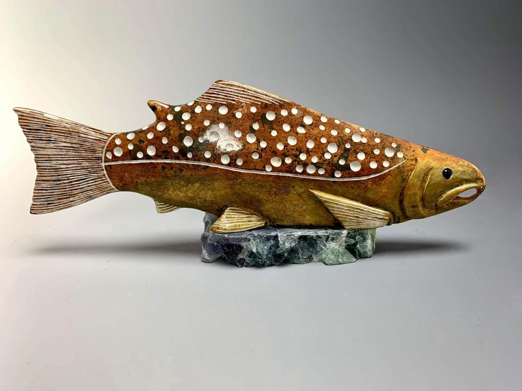 Salmon - Soapstone #184