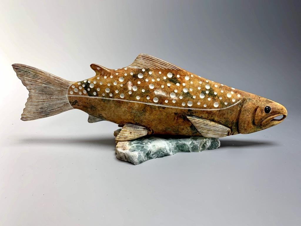 """""""Salmon"""" Soapstone (#186)"""
