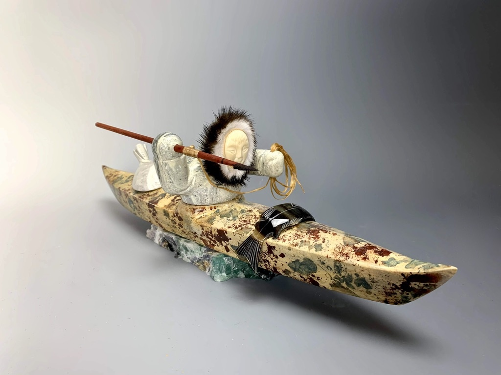 "- ""Kayaker"" - Soapstone #188"